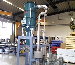 Der Gegenstromsichter mit Filterzyklon von ESTA.