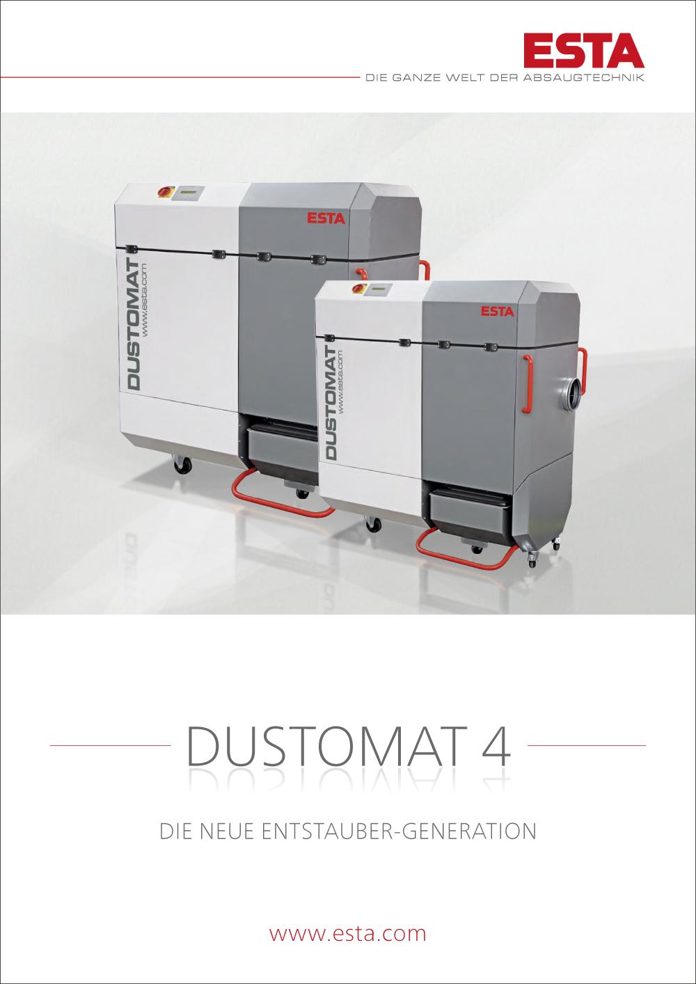 Der DUSTOMAT 4 Katalog.