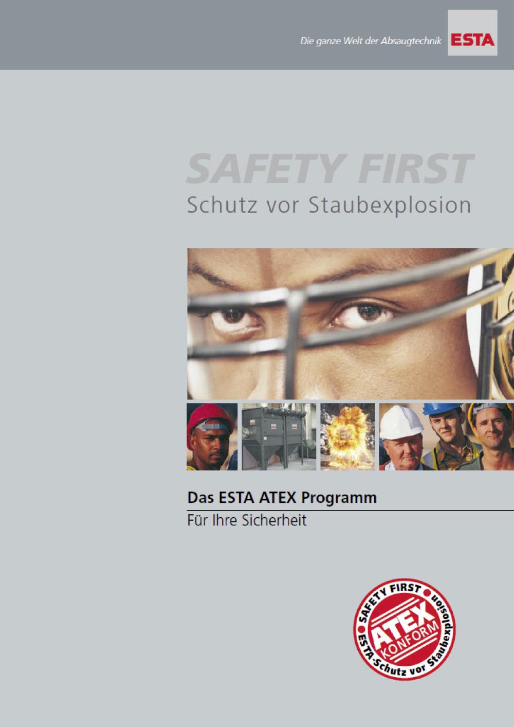 Das ESTA ATEX-Prospekt.