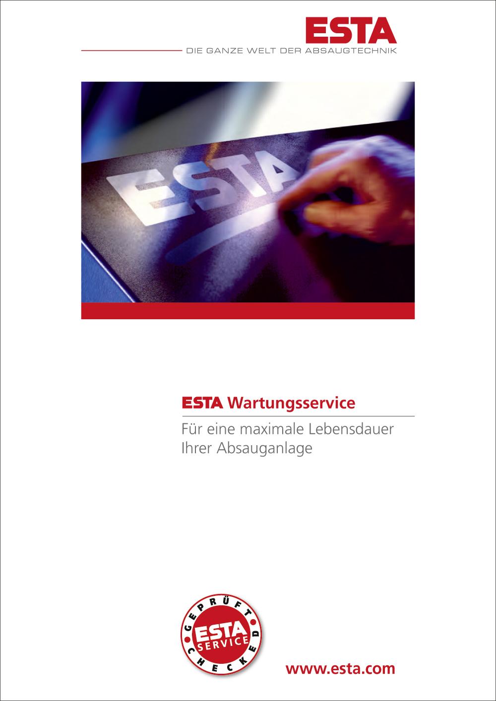 Das Wartungsservice Prospekt von ESTA.