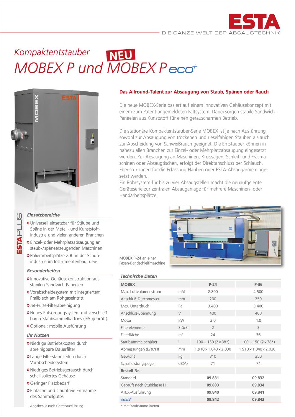 Das MOBEX Prospekt.