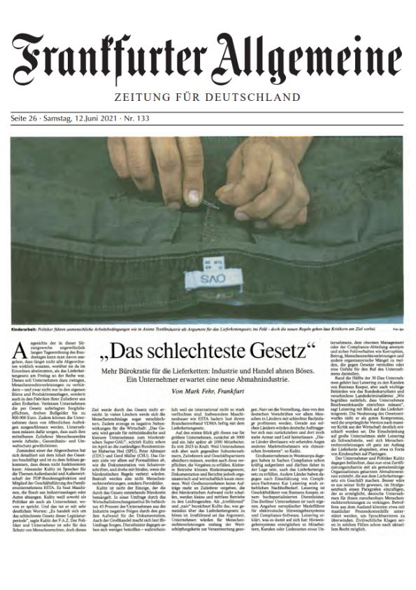 Frankfurter Allgemeine 06/2021 - Das schlechteste Gesetz