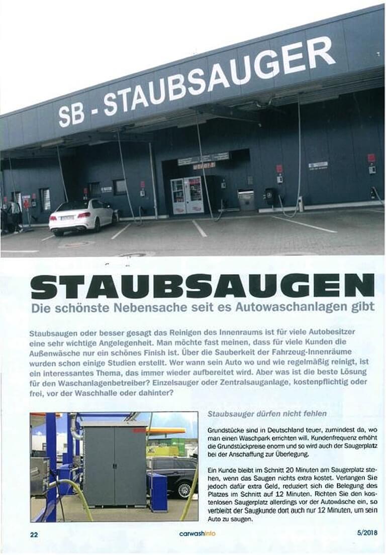 Der Saugerplatz bei Autowaschanlagen-Staubsauger zur Reinigung des Innenraumes sind für viel Autobesitzer sehr wicthtig.