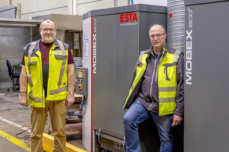 Stationärer Entstauber Mobex P von ESTA Absaugtechnik in der Praxis