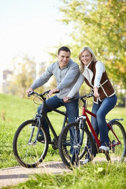 Fahrrad fahren für die Gesundheit