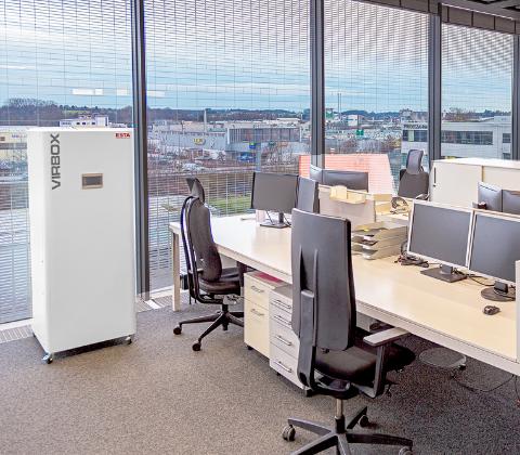 ESTA Luftreiniger VirBox in Bürogebäude