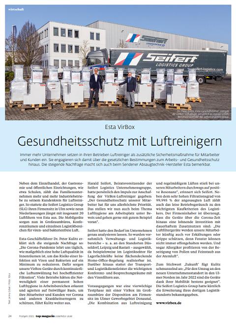 Presseclipping Top Magazin Ulm Neu-Ulm
