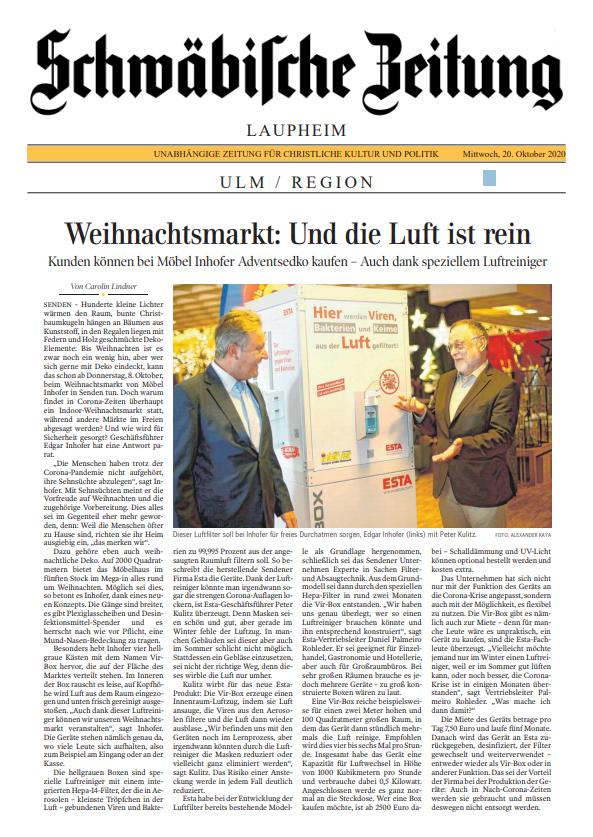 Zeitungsartikel Schwäbische Zeitung