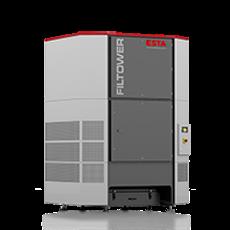Filterturm zur Erfassung & Filtration von Staub, Rauch & Ölnebel