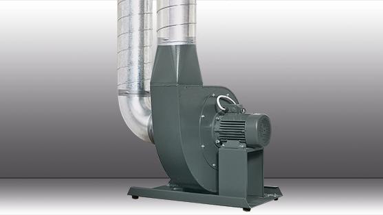 Der Mitteldruckventilator aus der RG-Serie im Abluftbetrieb