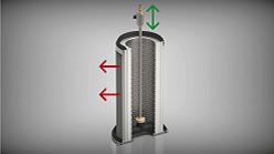 Die manuelle Rotationsfilterreinigung der SRF-T-Serie.
