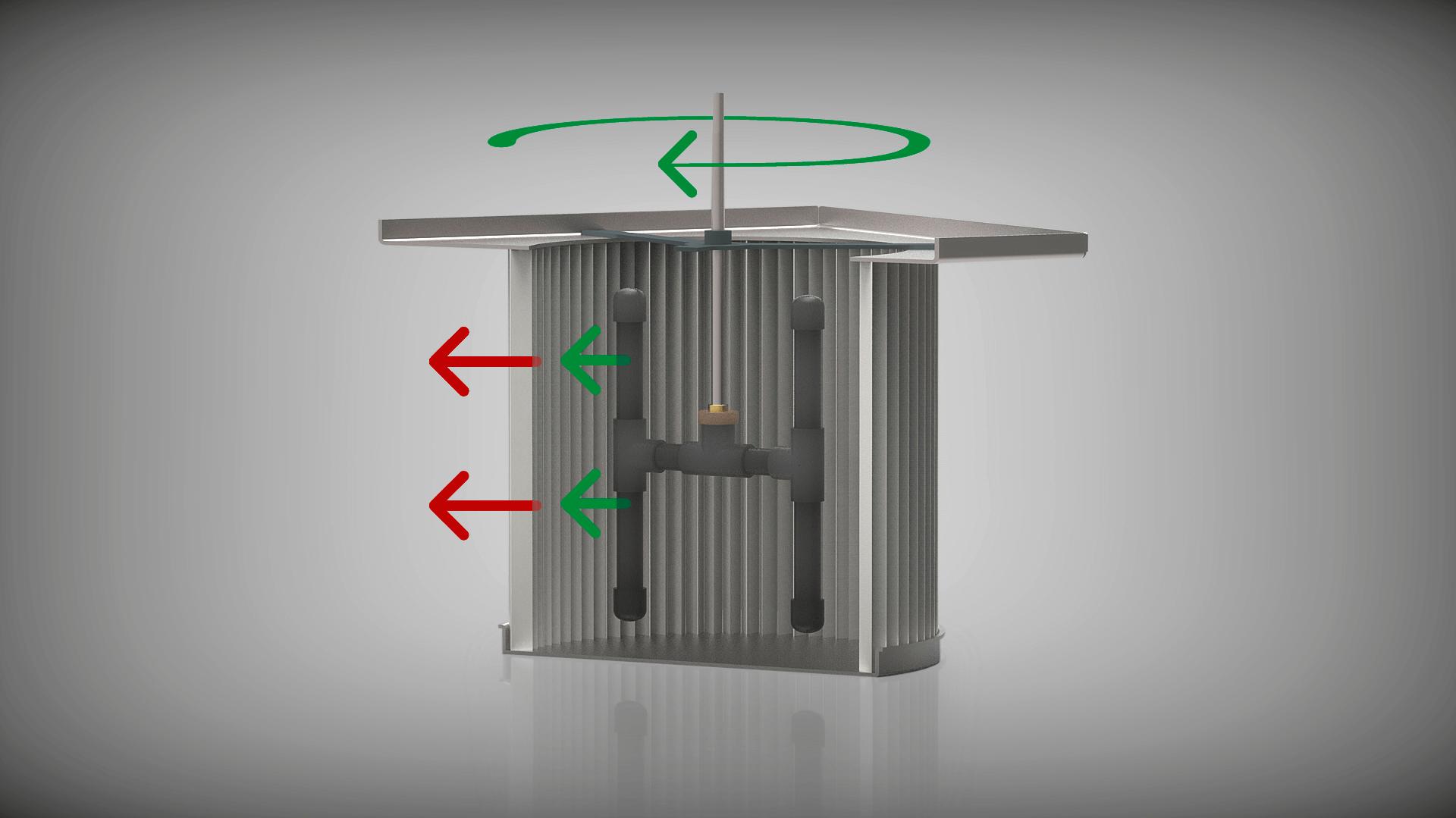 Die vollautomatische Filterabreinigung der WHISPERSOG Serie.