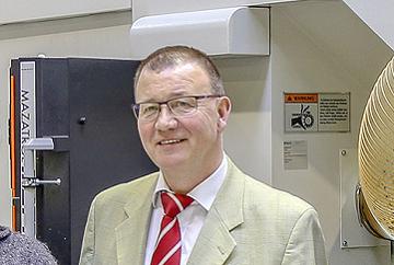 Helmut Pfänder Leiter der Abteilung Instandhaltung, Umweltschutz, Arbeitsschutz und Betriebssicherheit bei Pfaff