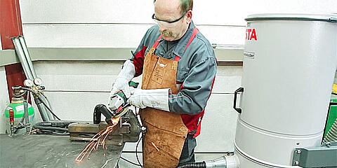 Die NA-Serie ist ein Nassabscheider gegen feuchte und metallische Stäube.