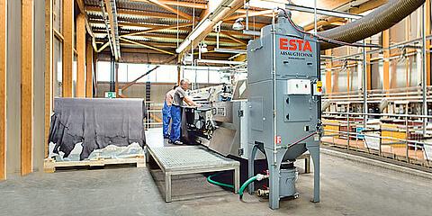 Der stationäre Nassabscheider der NA-K-Serie von ESTA.