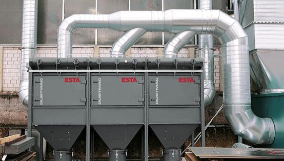 Die DUSTMAC-Serie von ESTA verursacht geringe Betriebskosten.
