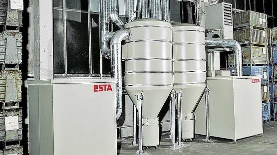 Die TDS-/TDP-Seitenkanalverdichter von ESTA bieten eine hohe Saugkraft und saugen Rauch und Staub effektiv ab