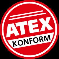 Das ATEX Prüfzeichen.