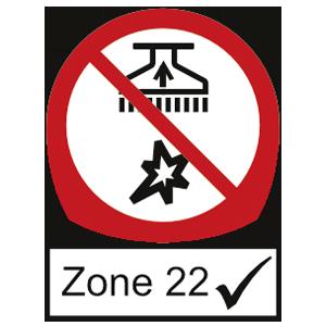 Industriesauger geeignet für Zone 22