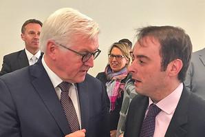 ESTA Gesellschafter Alexander Kulitz und Bundespräsident Frank-Walter Steinmeier.
