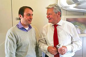 ESTA Gesellschafter Alexander Kulitz mit Joachim Gauck.