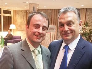 ESTA Gesellschafter Alexander Kulitz mit Victor Orban.