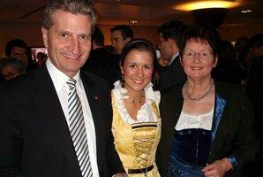 Günther Oettinger, ESTA Gesellschafterin Jessica Kulitz und Elisabeth Jeggle.