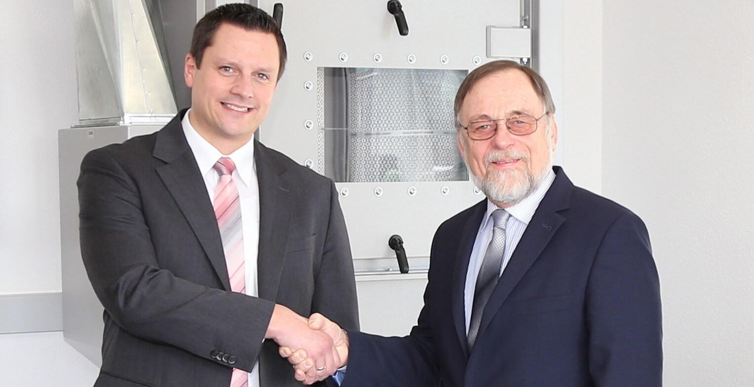 Die Geschäftsführer Philipp Raunitschke und Dr. Peter Kulitz.
