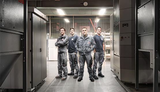 ESTA Montageteam Mitarbeiter