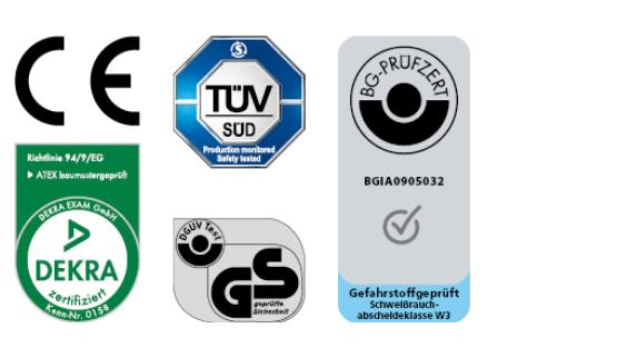 Die Prüfzeichen unserer Qualitäts-Garanten bei ESTA