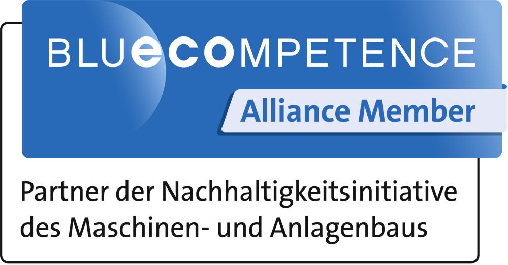 Das Blue Competence Logo.