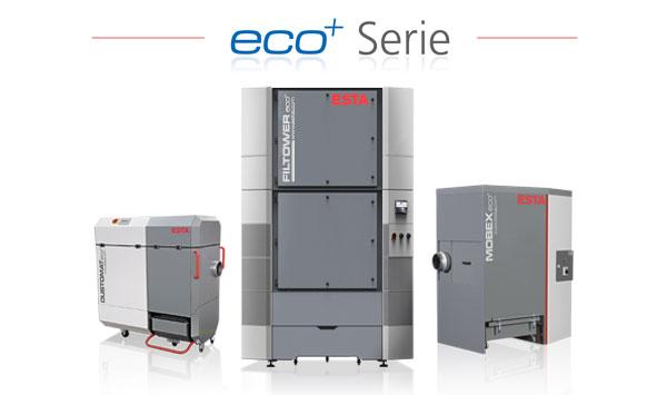 ESTA eco+ Absauganlagen sparen bis zu 50% Strom gegenüber konventionellen Anlagen.