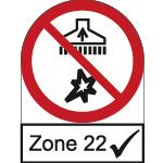 Prüfzeichen Zone 22