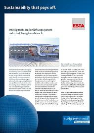 """ESTA unterstützt die """"Blue Competence""""-Nachhaltigkeitsinitiative des Verbandes Deutscher Maschinen- und Anlagenbauer."""