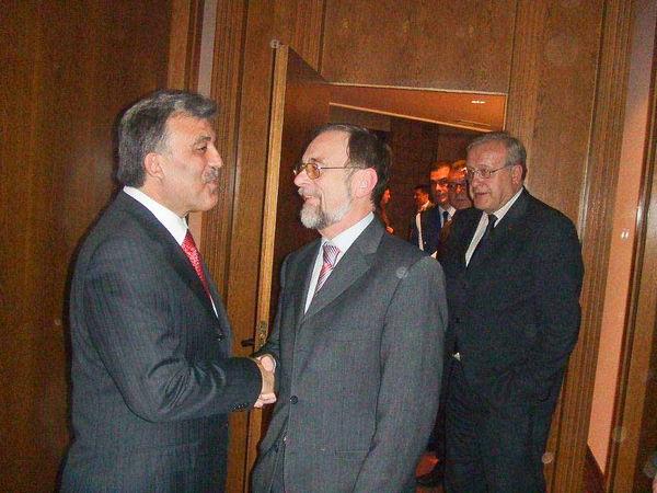 Dr. Kulitz und der türkische Staatspräsident Abdullah Gül in Ankara.
