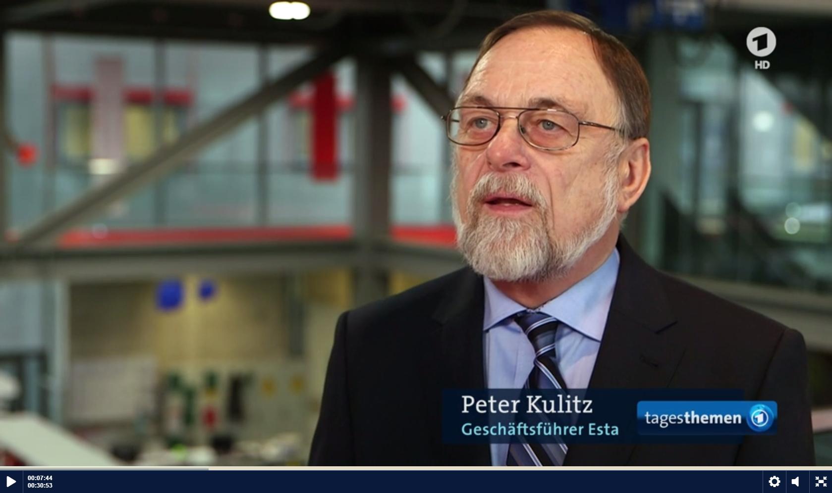 Dr. Kulitz bei den ARD Tagesthemen.