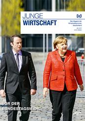 Magazin Wirtschaftsjunioren: Alexander Kulitz und Angela Merkel.