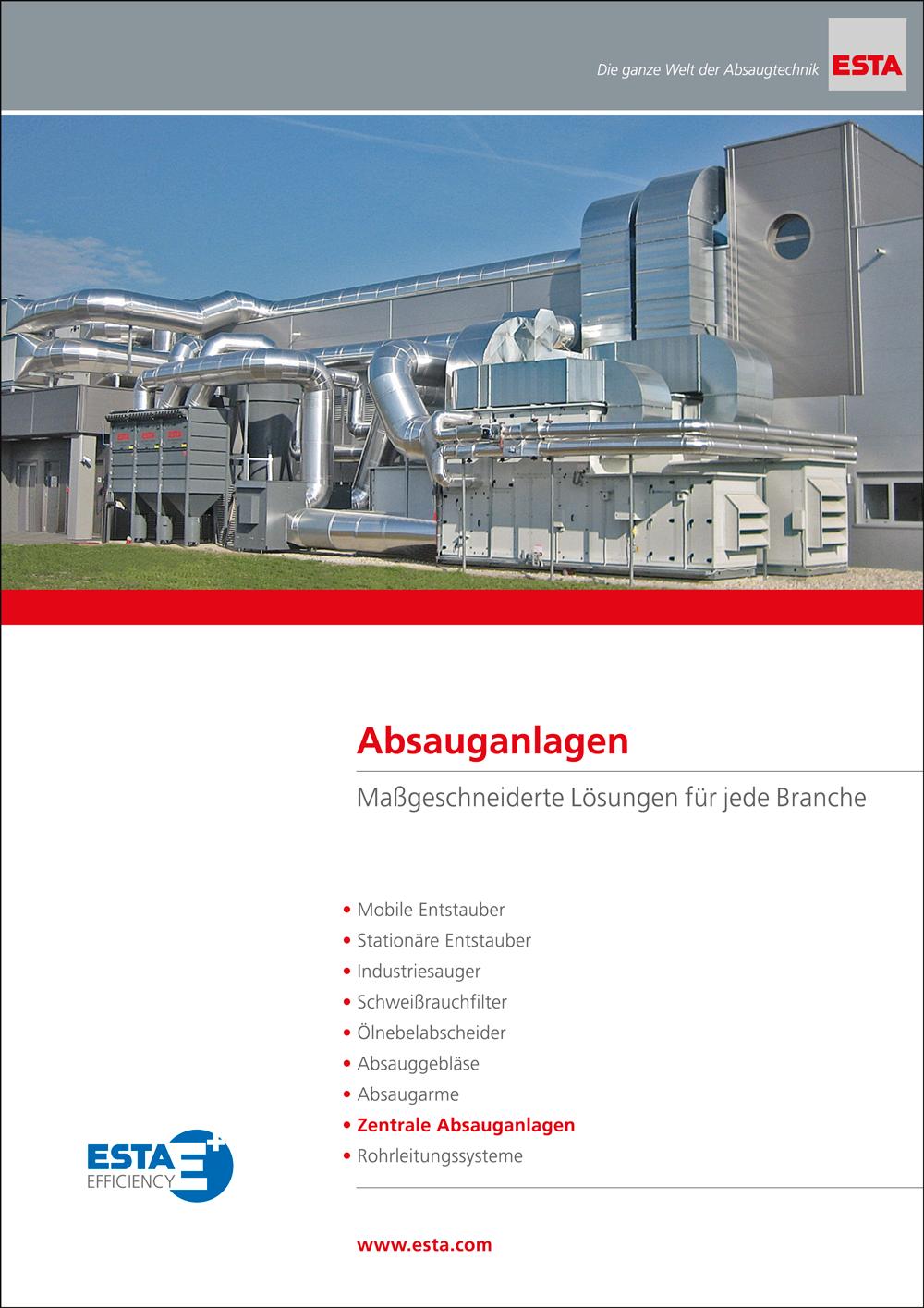 Die Anlagenbau Broschüre von ESTA.