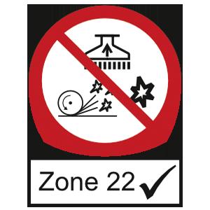 Zentrale Absauganlgen geeignet für Zone 22