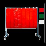 1-teilige mobile Schweißerschutzwand mit Lamellen