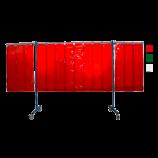 3-teilige mobile Schweißerschutzwand mit Lamellen