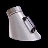 Punktabsaughaube-oval-pulverbeschichtet