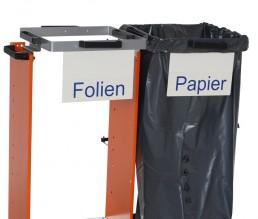 """Frontschild für Müllsackwagen - Beschriftung """"Folie"""""""