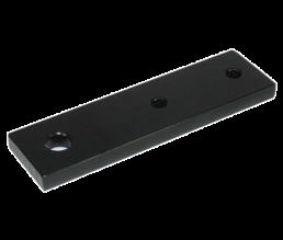 Halteplatte 3-Loch für Vorhangständer