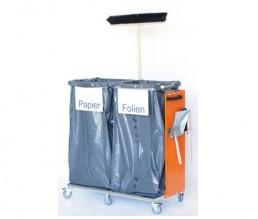 Müllsackwagen für 2 Müllsäcke (mobil)