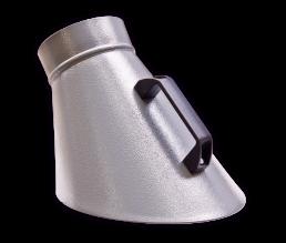 Punktabsaughaube oval, pulverbeschichtet