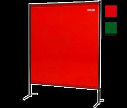 Schweißerschutzwand kompakt mit kleinem Vorhang